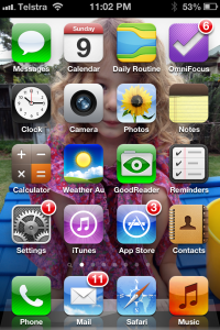 My iPhone home screen