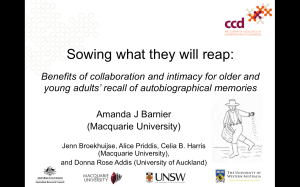The 12 minute talk for our SARMAC symposium on Scaffolding Memory Across the Lifespan
