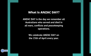 Oliver's Prezi about Anzac Day