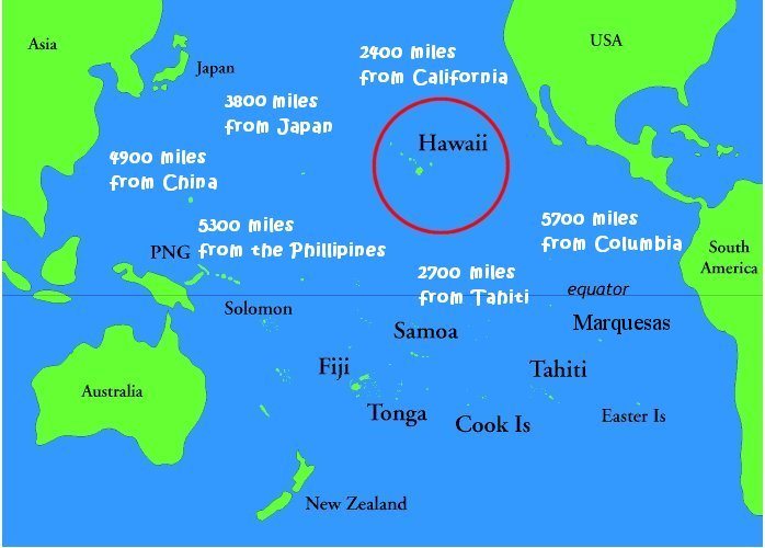 By wind water or wing to hawaii oliveramandaineurope hawaii relative to sydney and mainland usa from httpmichellehenry gumiabroncs Image collections